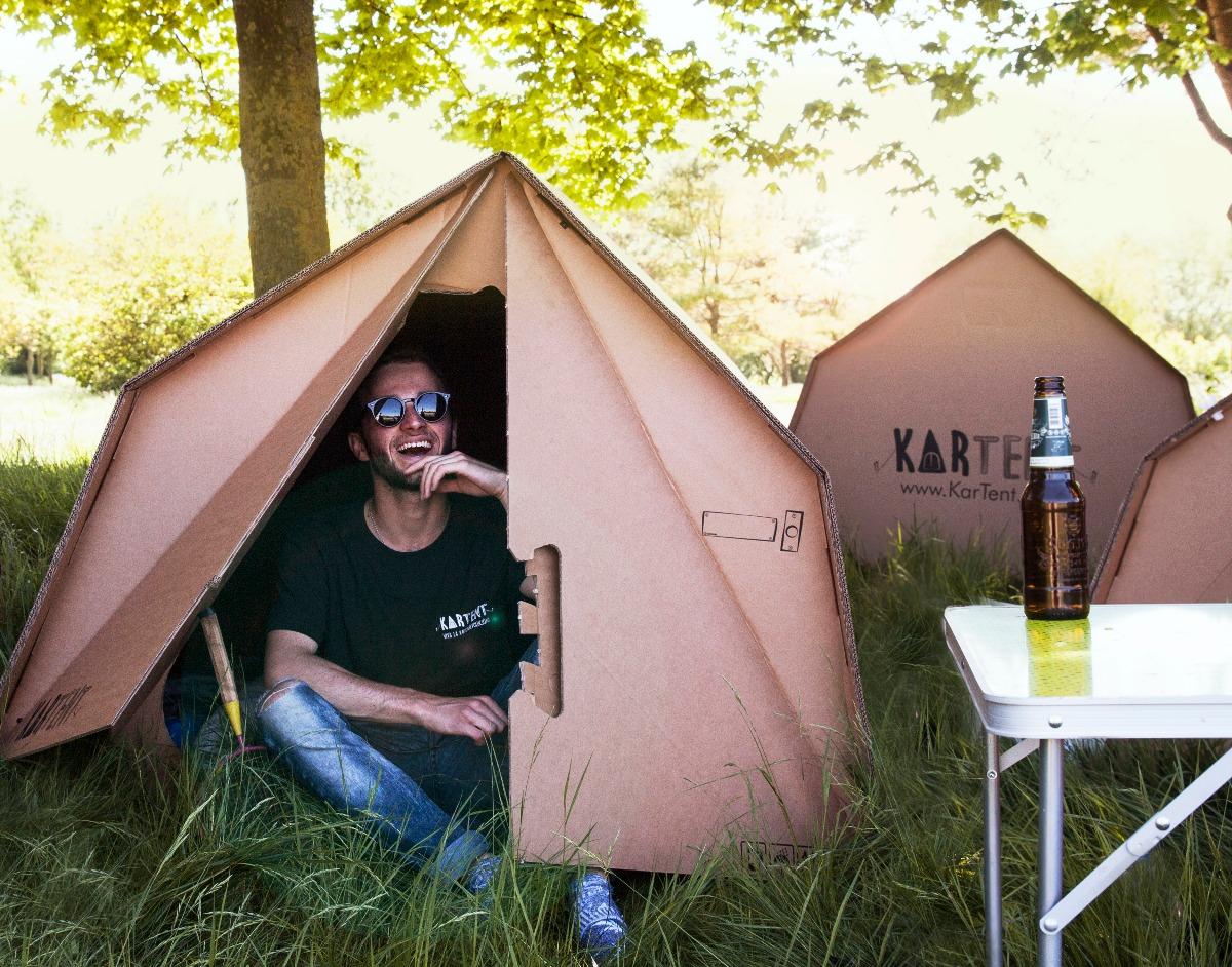 一回しか使えないのに、なぜか環境にやさしいテント