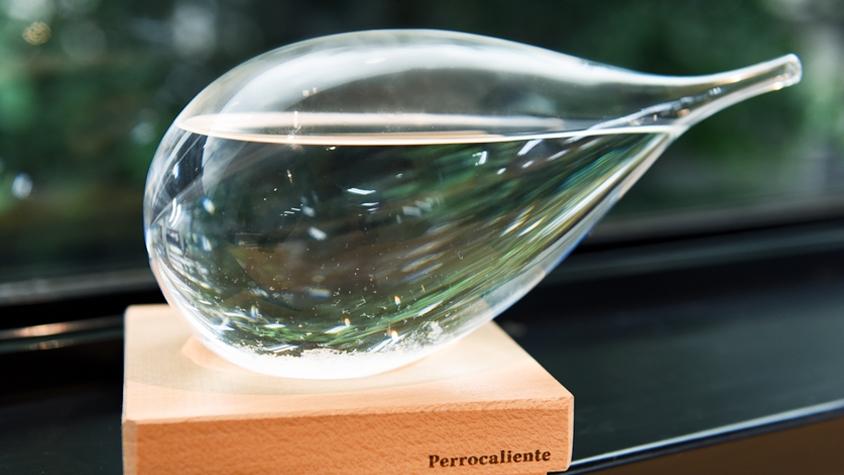 天気によって中の結晶が変化する「ガラスのしずく」