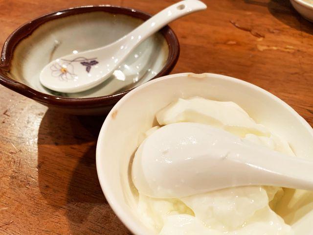 上海小吃の杏仁豆腐