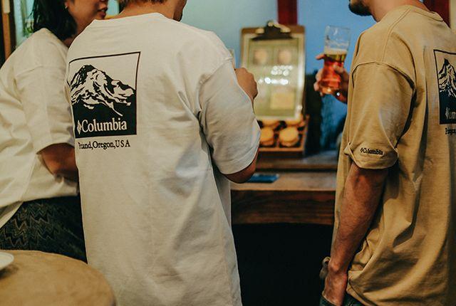 コロンビア×FREAK'S STOREのヘビーコットンTシャツ