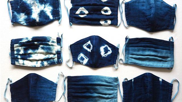 藍染ガーゼの夏マスク