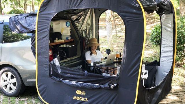 ついに日本上陸!自動車との連結で「リビング空間」が生まれるテント「CARSULE」