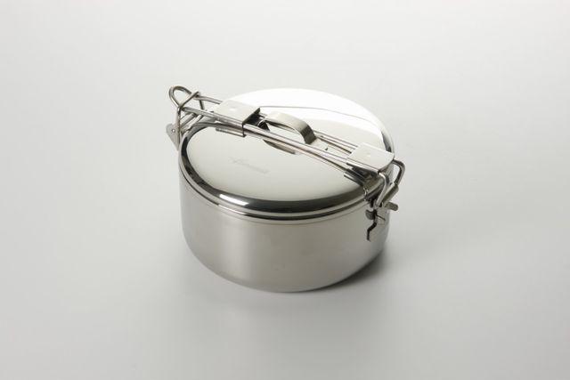 取っ手を伸ばすとお鍋にもなる、タイのメーカーである、seagull(シーガル)のステンレス製お弁当箱