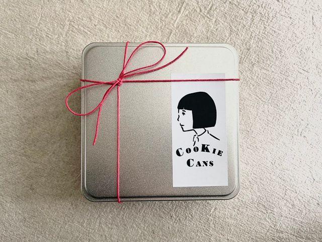 「カフェのある暮らしとお菓子のお店」のお取り寄せクッキー缶、パッケージ
